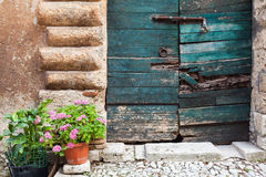 Typical italian door, Lazio, Italy Royalty Free Stock Photography