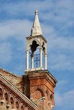 A typical italian gothic spire. A spire from Santa Maria dei Frari church in Venice Stock Photography