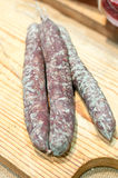 Typical Italian homemade salami with pork Royalty Free Stock Images