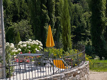 Typical Italian house balcony with flowers Royalty Free Stock Images