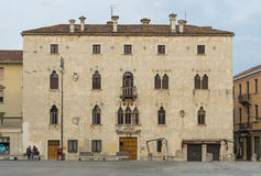 Typical Italian house in Venetian style, Udine, Italy, March of 2015 Royalty Free Stock Image