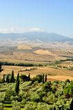 Typical Italian landscape in Tuscany Stock Photography