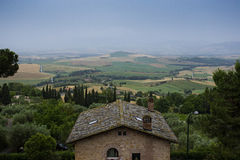 Typical Italian Landscape in Tuscany Royalty Free Stock Photo