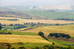Typical Italian Landscape in Tuscany Royalty Free Stock Photos