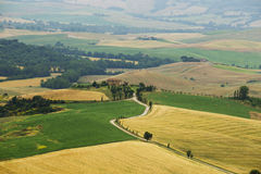 Typical Italian Landscape in Tuscany Stock Photos