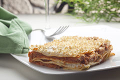 Typical Italian Lasagna Royalty Free Stock Photography