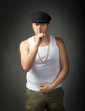 Typical italian man gesture for secret Royalty Free Stock Photo
