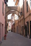 Italian narrow street Royalty Free Stock Images
