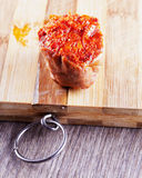 Typical Italian Nduja sausage Royalty Free Stock Photo