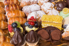 Typical italian pastries close up Royalty Free Stock Photo