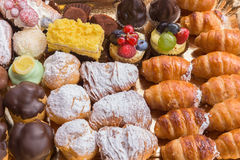 Typical italian pastries mix Stock Images