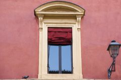 Typical italian window. Typical italian Renaissance building window Royalty Free Stock Images