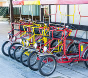 Typical Italian Rickshaws Stock Photo