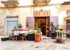 Typical Italian small market on the street Stock Photo