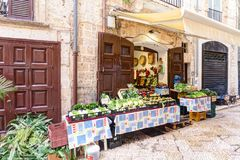 Typical Italian small market on the street Royalty Free Stock Photos