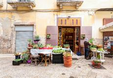 Typical Italian small market on the street Royalty Free Stock Image