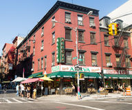 Typical italian store and deli at little Italy in New York City Stock Photography