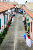 Typical Italian Street on Elba Island Stock Image