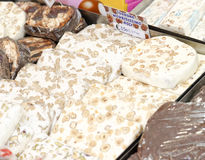 Typical italian sweet called torrone Stock Images
