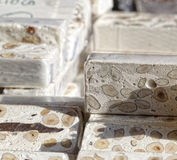 typical italian sweet called torrone Royalty Free Stock Photo