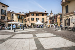 Typical Italian village square. Royalty Free Stock Photography