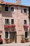 Typical Italian3. House in the Italian city Caorle Royalty Free Stock Photos