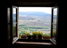 Typical Italy Tuscan landscape Royalty Free Stock Photo