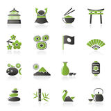 Typical Japan culture icons. Vector icon set Royalty Free Stock Photo