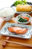 Typical japanese breakfast image Royalty Free Stock Photography