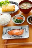 Typical japanese breakfast image Stock Photos
