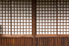 Typical japanese door royalty free stock photo