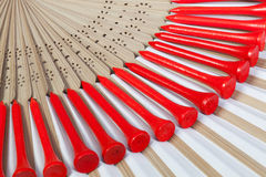 Typical Japanese hand fan made Royalty Free Stock Photography