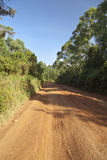 Typical Kenyan Dirt Road Stock Photography