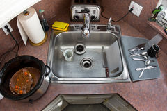 Typical Kitchen from Above Royalty Free Stock Photography