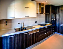 A typical kitchen in Portugal. Modern and of a high quality. royalty free stock photos