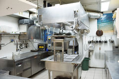 Typical kitchen of a restaurant Royalty Free Stock Photo