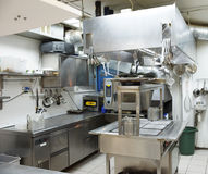 Typical kitchen of a restaurant Stock Photo