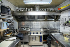 Typical kitchen of a restaurant Royalty Free Stock Photos