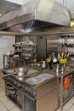 Typical kitchen of a restaurant Stock Image