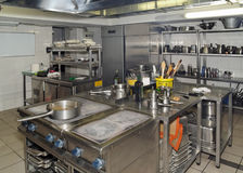 Typical kitchen of a restaurant Stock Photography
