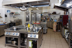 Typical kitchen of a restaurant Royalty Free Stock Images