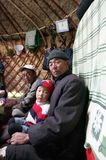 Typical kyrgyz shepherd. Inside of the Kirghiz shepherd's house - yurt (nomad's tent). #1 Stock Photography