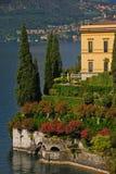 Typical Lakeside Mansion in Varenna Lake Como Stock Photography