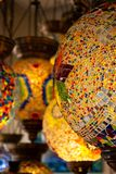 Typical lamps of Turkey. Colorful antique lamps. Lamps of Ramadan stock image