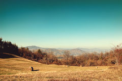 Typical landscape in the Apennines mountains Royalty Free Stock Photo