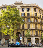 Typical landscape of Barcelona Royalty Free Stock Image