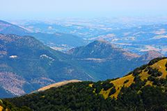 Typical landscape of the beautiful Italian Apennin Royalty Free Stock Images