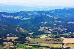 Typical landscape of the beautiful Italian Apennin Royalty Free Stock Photo