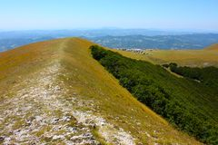 Typical landscape of the beautiful Italian Apennin Royalty Free Stock Photography
