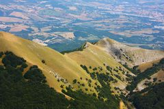 Typical landscape of the beautiful Italian Apennin Stock Images